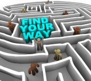 Trouvez votre chemin par un labyrinthe Photos stock