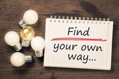 Trouvez votre propre chemin Photo libre de droits