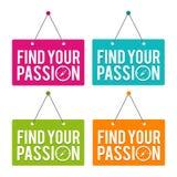 Trouvez votre signe accrochant de porte de passion illustration de vecteur