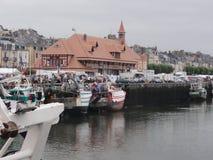 Trouville苏尔梅尔港  免版税库存照片