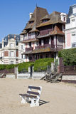 Trouville,法国海滩  库存图片
