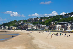 Trouville beach. The beach of Trouville town, near Deauville in Normandy, France Stock Photography