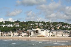 Trouville beach. In the spring Stock Photography
