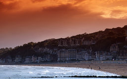 Trouville beach Royalty Free Stock Images