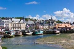Trouville Hafen, Normandie Lizenzfreie Stockfotos