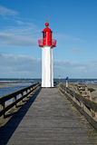 Trouville lighthouse, Normandy Stock Image