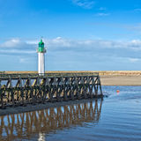 Trouville lighthouse, Normandy Royalty Free Stock Photography