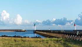 Trouville pier Royalty Free Stock Images