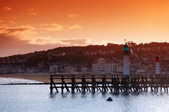 Trouville pier Royalty Free Stock Photos