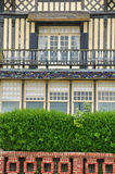 Trouville sur的梅尔议院在Normandie 免版税库存图片