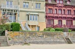 Trouville sur的梅尔议院在Normandie 免版税库存照片