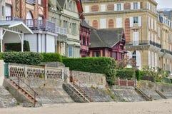 Trouville sur的梅尔议院在Normandie 免版税图库摄影