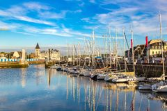Trouville and Touques river royalty free stock photography