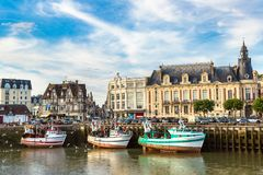 Trouville and Touques river royalty free stock photos