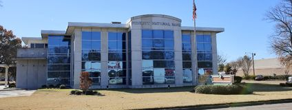 Trouw National Bank, West-Memphis, Arkansas stock afbeeldingen