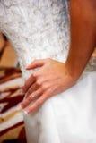 Trouwring 1 van bruiden Stock Foto's