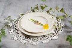 Trouwringen met een narcis royalty-vrije stock fotografie
