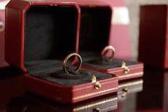 Trouwringen - voorraadfoto royalty-vrije stock afbeelding