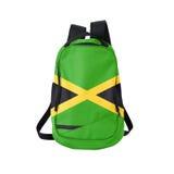 Trouxa da bandeira de Jamaica isolada no branco foto de stock