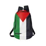 Trouxa da bandeira de Palestina isolada no branco Imagens de Stock