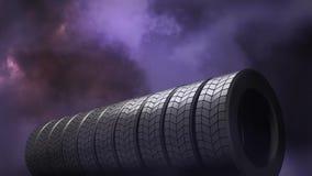 Trovão e vídeo dos pneus filme