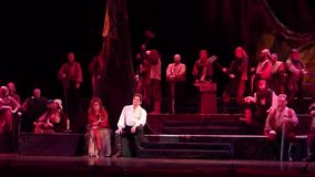 Trovador clásico de la ópera almacen de video