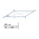 Trovando i parallelogrammi delle diagonali illustrazione di stock