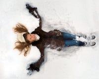 Trovandosi nella neve Fotografia Stock