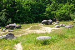 Trovanti-Museums-natürliche Reserve Stockfoto