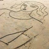 Trovate le ragazze più belle alla spiaggia Fotografie Stock