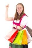 Trovato tanti articoli piacevoli durante lo shopping tour Fotografia Stock Libera da Diritti