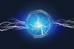Troveje o parafuso em uma relação da roda da ficção científica - 3d da iluminação Fotos de Stock Royalty Free