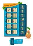 Trovi il giusto quoziente d'intelligenza dell'itinerario royalty illustrazione gratis