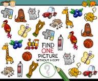 Trovi il singolo fumetto del gioco dell'immagine Immagine Stock