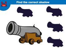 Trovi l'ombra corretta, gioco di istruzione per l'insieme dei bambini dei caratteri del pirata del fumetto Illustrazione di vetto illustrazione vettoriale