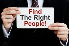 Trovi la persone giuste Fotografia Stock Libera da Diritti