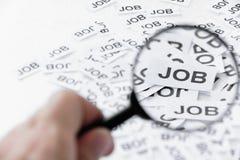 Trovi un concetto di job Fotografia Stock