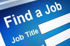Trovi un job Fotografia Stock