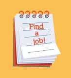 Trovi un lavoro! Fotografie Stock Libere da Diritti