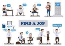 Trovi un job Immagine Stock