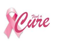 Trovi una cura per cancro della mammella Fotografie Stock Libere da Diritti
