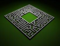 Trovi una soluzione - labirinto Immagine Stock