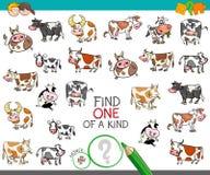 Trovi uno di un genere con i caratteri della mucca royalty illustrazione gratis