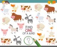 Trovi uno di un genere di animali da allevamento illustrazione di stock