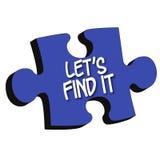 ?Troviamola? parte di puzzle 3D Immagini Stock Libere da Diritti