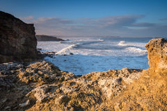 Trow Point at South Shields Stock Image
