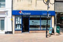 Trowbridge威尔特郡6月28日小地方雇佣公司的2019家商店前面 免版税库存图片
