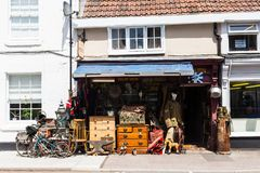Trowbridge Wiltshire June 28th 2019 The old sweet works antique and bric a brac shop stock images