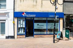 Trowbridge Wiltshire June 28th 2019 Shop front for a small local employment agency royalty free stock image