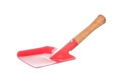 Trowel που απομονώνεται κόκκινο στο λευκό Στοκ εικόνα με δικαίωμα ελεύθερης χρήσης